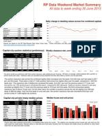 RP Data Weekend Market Summary (30 June 2013 )