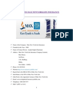 Introduction to Max Newyork Life Insurance
