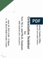 CAL MA & PhD Orientation Seminar