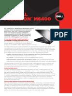 Workstation Precision m6400 Technicke Specifikace En