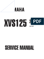 Yamaha XVS 125 '00 - Service Manual