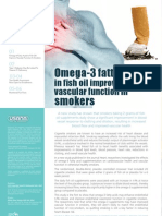 Omega-3 fatty acids in fish oil improve vascular function in smokers