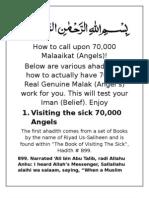 How to Call Upon 70,000 Malaaika (Angels)!