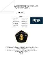 Laporan Praktikum Mikrokontroller Dan Interfacing