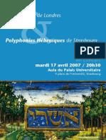 Strasbourg Zemel Choir Concert