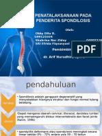 Penatalaksanaan Pada Penderita Spondilosis