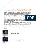 A Collection of Full Live Concerts