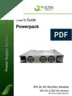 350005 013 UserGde Powerpack 3PhAC DC Rectifier Mod 2v0e