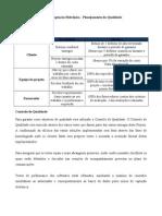 Exemplo de Plano de Gerenciamento da Qualidade do Projeto Captação Eletrônica Biblioteca
