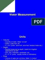 Water Measurement