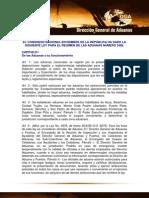 Ley General de Aduanas No. 3489
