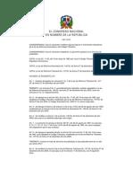 Ley 12-01, Que Modifica La Ley de Reforma Arancelaria y de Reforma Tributaria