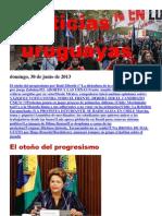 Noticias Uruguayas Domingo 30 de Junio Del 2013