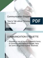 Communication Etiquette