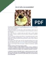 ¿Qué sabes sobre el café y sus propiedades