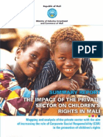 THE IMPACT OF THE PRIVATE SECTOR ON CHILDREN'S RIGHTS IN MALI