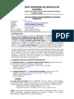 ACTA DE REGISTRO DE AUDIENCIA DE REQUERIMIENTO DE PRISIÓN PREVENTIVA
