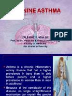 Feminine Asthma.