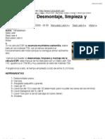 Válvula EGR - Desmontaje, limpieza y montaje