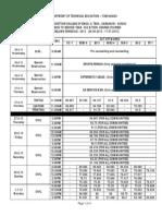 Schedule Lea 2013