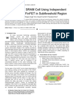 Design of 6T SRAM Cell Using Independent Double-Gate FinFET in Subthreshold Region