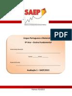 Primeira Avaliacao Online Saep 2013 9ano