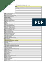 Accounting Sheet Companies BiH
