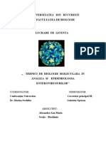 Tehnici de Biologie Moleculara in Analiza Si Epidemiologia Enterovirusurilor