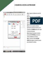 Configuracion de Volumen de Lectora MA300