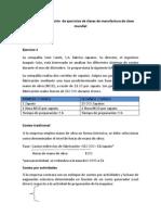 Ejemplo de aplicación  de ejercicios de clases de manufactura de clase mundial