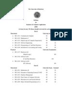 Burdwan University BCA Syllabus