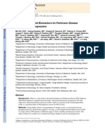 Cerebrospinal Fluid Biomarkers for Parkinson Disease