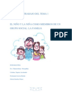 Tema 1 El niño y la niña como miembros de un grupo social la familia