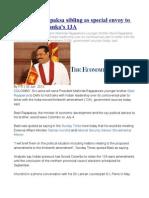 Mahinda Rajapaksa Sibling as Special Envoy to India on Sri Lanka's 13A