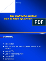 Hydraulic System - Use of Back Up Sources