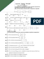 2013 Matematica Concursul 'Euclid' Clasa a XI-A M1 Subiecte