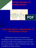 4 Inflammatory Diseases of Paranasal Sinuses