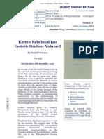 Karmic Relationships_ Esoteric Studies - Volume I