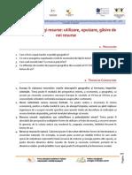 Tema 3 - Nevoi Si Resurse Utilizare, Epuizare, Gasire de Noi Resurse