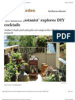 'Drunken Botanist' Explores DIY Cocktails - San Francisco Chronicle
