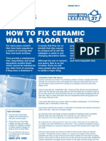 Fixing Ceramic Wall Tiles