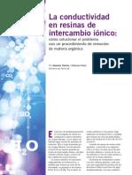 Conductividad en Resinas de Intercambio Ionico