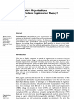 Postmodernism, Reflexive Rationalism and Organizational Studies a Reply to Martinmmmm Parker