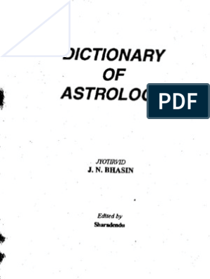 dictionary of significators in astrology pdf