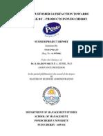 Project Report ponlait