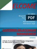 Crm Presentationbhupendra Pratap Singh i m r t b School Lucknow