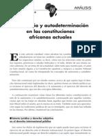 Autonomia y Determinacion en Las Constituciones Africanas Actuales