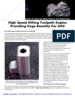 AMS Case Study for High Speed Milling