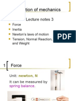 Introduction of Mechanics Lecture Notes 3 for Students