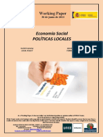 Economía Social. POLÍTICAS LOCALES (Es) Social Economy. LOCAL POLICY (Es) Gizarte Ekonomia. TOKIKO POLITIKAK (Es)